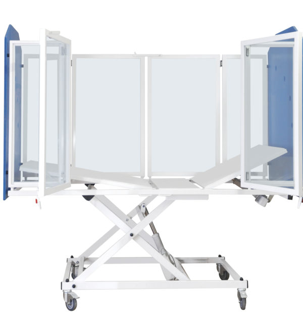 "Height Adjustable ""TRANSGLASS AA"" cot adolescent-adult"